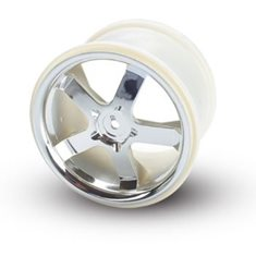"Traxxas 5373 Wheels Hurricane Chrome (14mm) 3.8"" (2)"