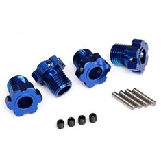 Traxxas 8654 Wheel Hubs Splined 17mm Blue (4)