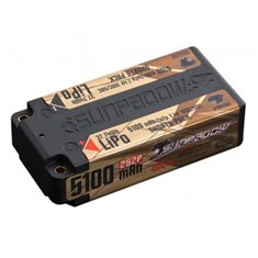 Li-Po Batteri 2S 7,4V 5100mAh 100C Shorty Gold