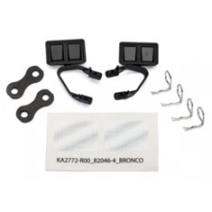 Traxxas 8073 Side Mirrors Set Black Bronco
