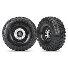 "Traxxas 8172 Tires & Wheels Canyon Trail/Method 105 Black Chrome 2.2"" (2)"