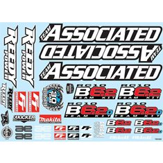 RC10B6.2 Decal Sheet 91869